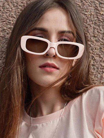 Gafas De Sol Rectangulares Retro Marco Ancho - Blanco