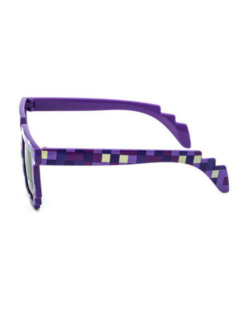women Pixel Pattern Irregular Sunglasses - PURPLE  Mobile