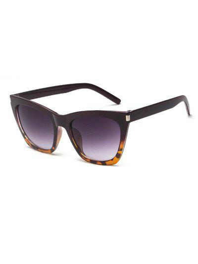 Gradient Tortoise Pattern Sunglasses - Deep Brown