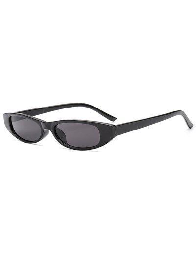 Schmale Anti UV Sonnenbrille - Schwarz