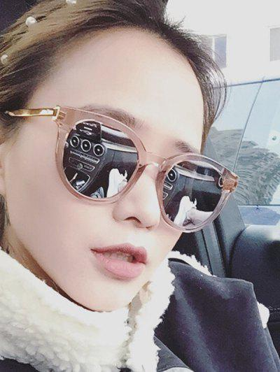 Retro Travel Round Sunglasses - Champagne Gold