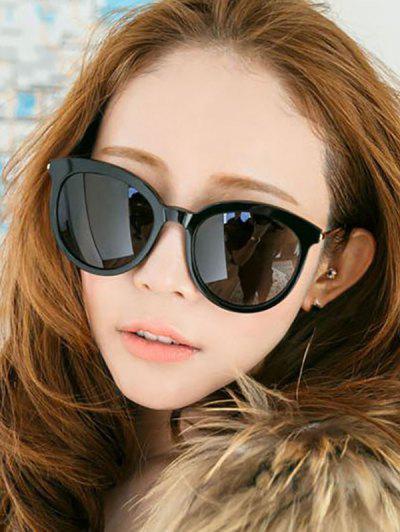 Retro Travel Round Sunglasses - Black