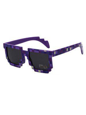 zaful Pixel Pattern Irregular Sunglasses