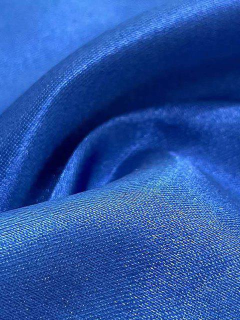 Bufanda Cuadrada Sedosa de Color Sólido - Azul Océano   Mobile
