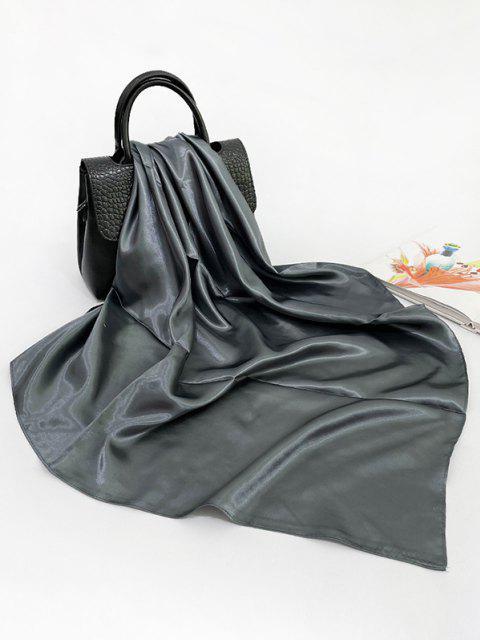 Einfarbiger Quadratischer Seidiger Schal - Grau  Mobile