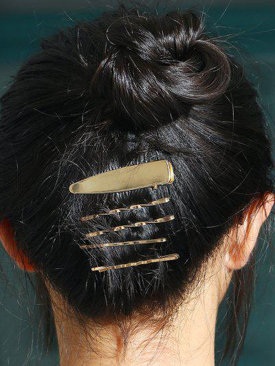 5 Pcs Twisted Alloy Hair Pins - Golden
