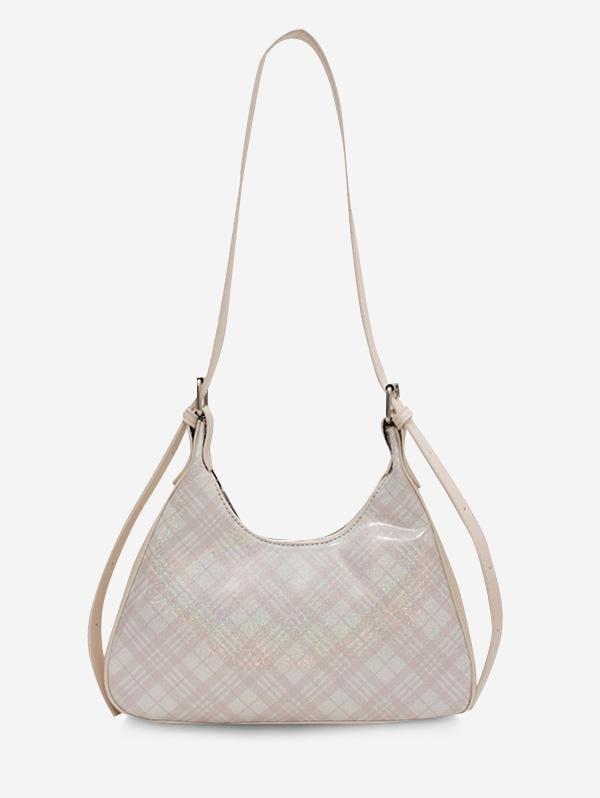 Plaid Printed Shoulder Bag