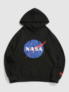 ZAFUL Letter Graphic Print Hoodie - Black 2xl