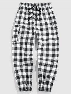 ZAFUL Pantalones A Cuadros Con Bolsillo - Negro S