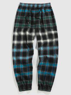 ZAFUL Pantalones Jogger A Cuadros Con Estampado De Tela Escocesa - Multicolor Xl