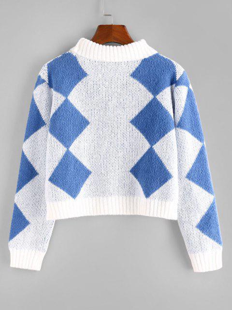 ZAFUL Jersey Corto de Argyle - Multicolor L Mobile