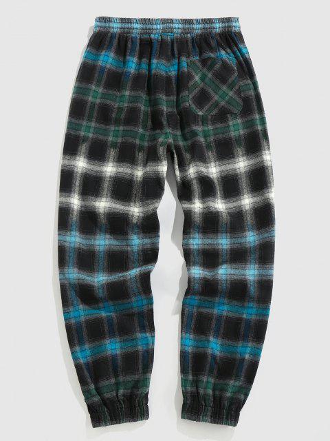ZAFUL Pantalones Jogger a Cuadros con Estampado de Tela Escocesa - Multicolor XL Mobile