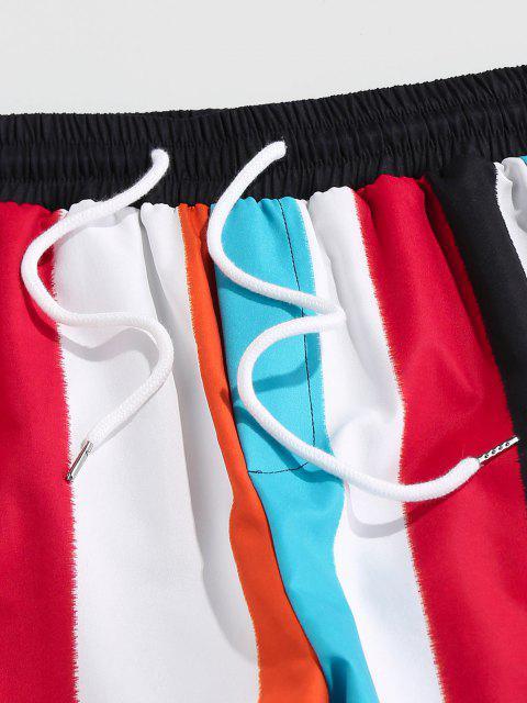 ZAFUL Pantalones Estampado de Rayas de Colores - Multicolor L Mobile
