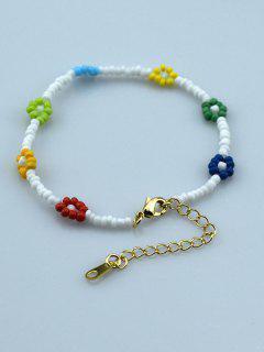 Beading Flower Bracelet - White