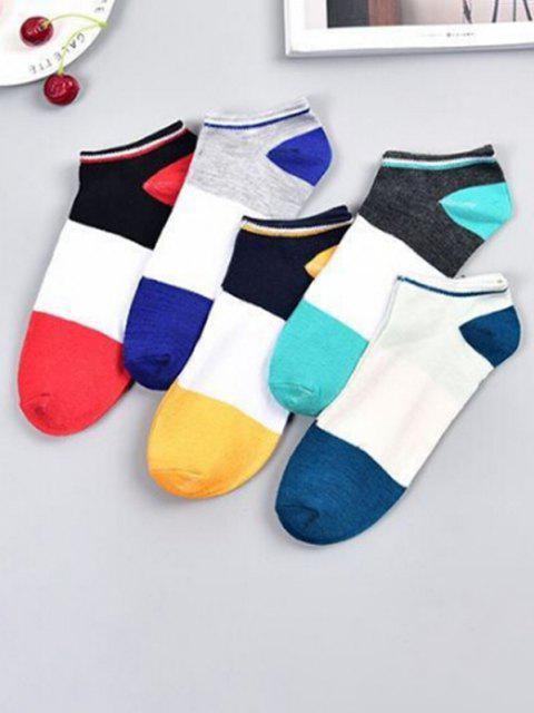 5 Paar Farbblock Knöchel Socken Set - Multi-C  Mobile