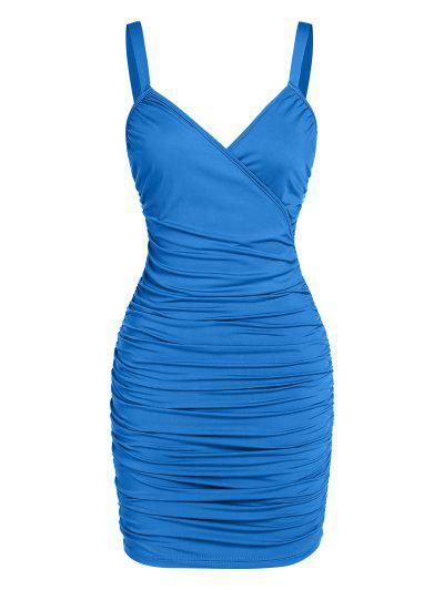 ZAFUL Bodycon Minikleid Mit Rüschen - Blau S