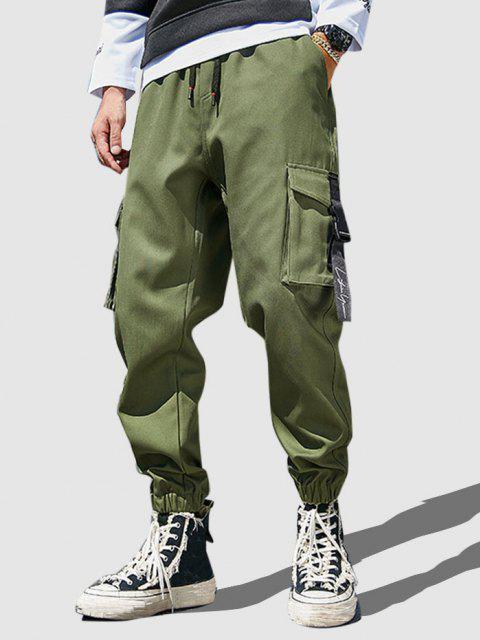 Mehrere Taschen Lässige Cargohose - Armeegrün S Mobile