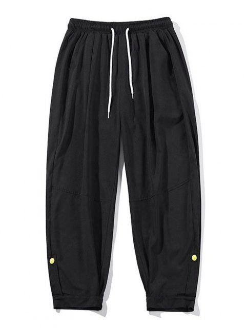 Pantalones de Jogger Ligera con Cordón con Detalle de Botones - Negro M Mobile