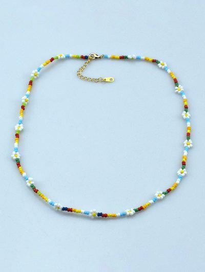 Böhmische Blume Perlen Halskette - Multi
