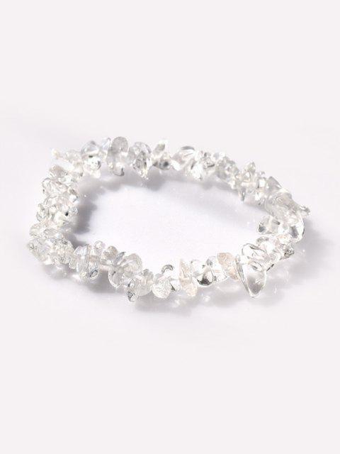 Unregelmäßiger Form Stein Perlen Elastisches Armband - Multi-A  Mobile