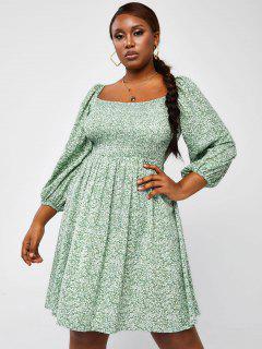 ZAFUL Vestido Floral De Talla Grande - Verde Claro L