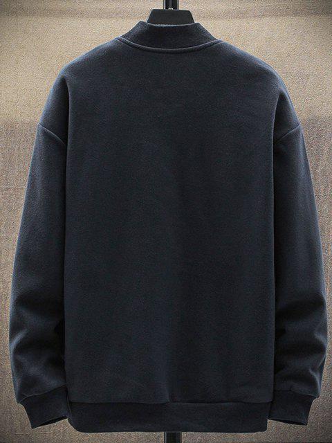 new Fleece Zip Up Pocket Jacket - DEEP BLUE S Mobile