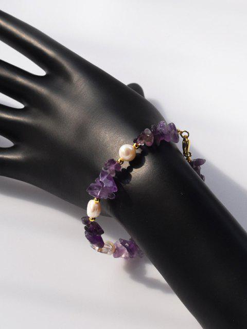 Perle Unregelmäßige Kristall Armband - Amethyst  Mobile