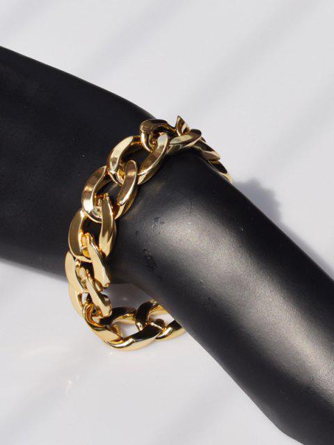 Einstellbares Dickes Kettenarmband - Golden  Mobile