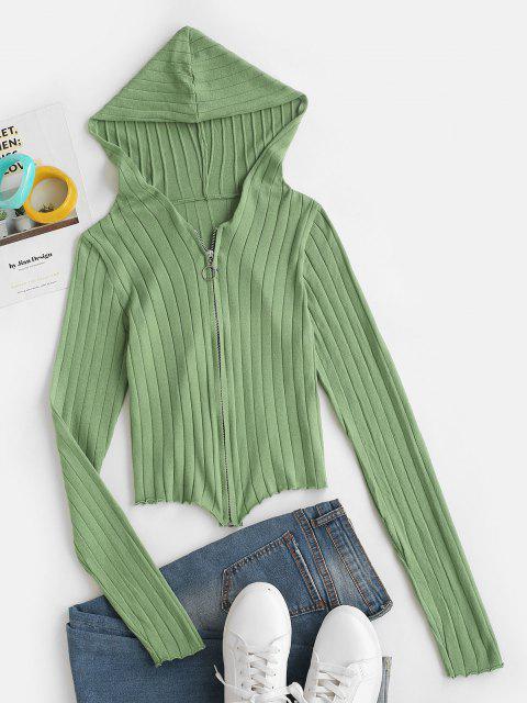 Cárdigan Capucha Zipper Frontal - Verde claro Talla única Mobile