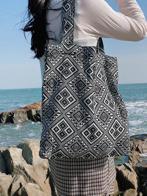 Bandana-inspirierte Druckleinwand-Taschen-Tasche - Schwarz  Mobile