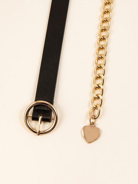 Vergoldeter Gürtel mit Halbem Runde Schnalle und Gürtel - Golden 1 Stück Mobile