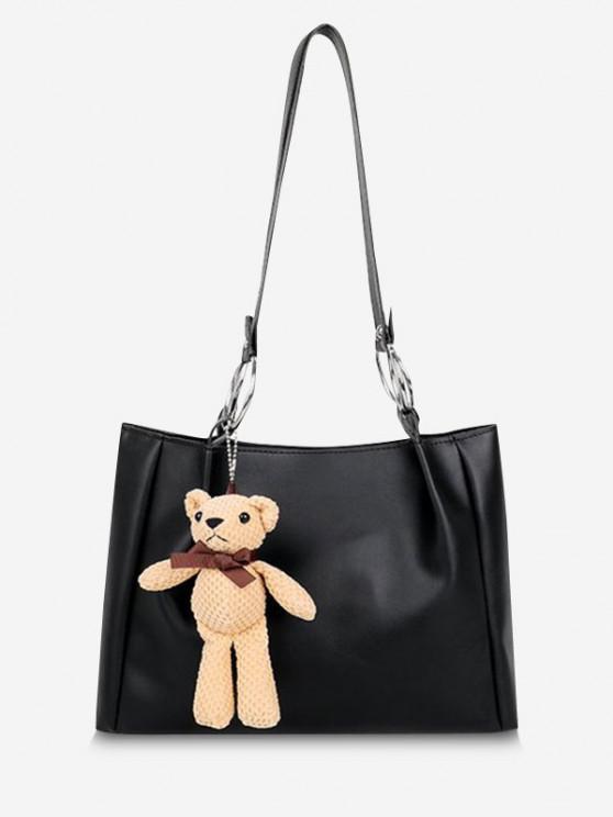 Bär Anhänger Lässige Handtasche - Schwarz