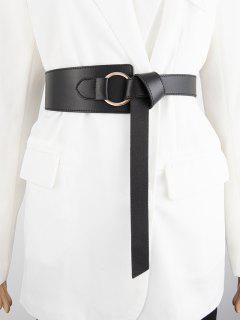 Cinturón Asimétrico Cruzado - Negro