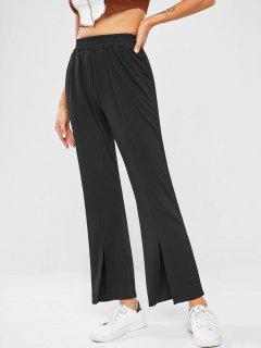 Pantalones Corte Bota Acanalado - Negro