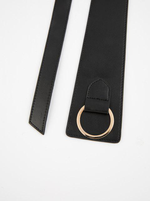 Asymmetrischer O Ring Gürtel - Schwarz  Mobile