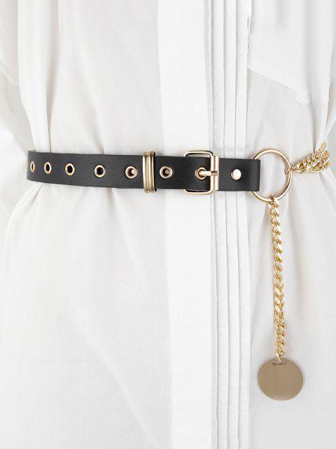 Schichten Kette Spleißen Schnalle Gürtel - Golden  Mobile