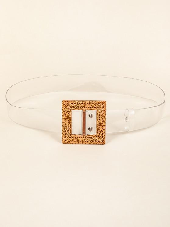 Transparenter Gürtel mit Quadratischer Schnalle - Transparent