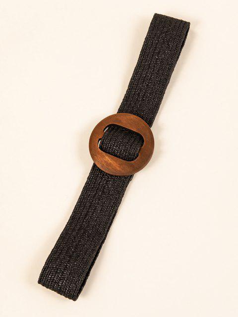 Knit Piece Cold Muster Runder Dekor Gürtel - Schwarz  Mobile