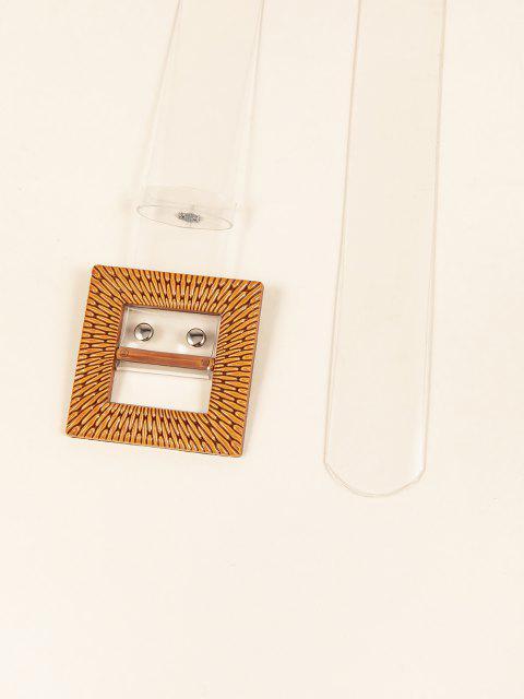 Transparenter Gürtel mit Quadratischer Schnalle - Transparent  Mobile
