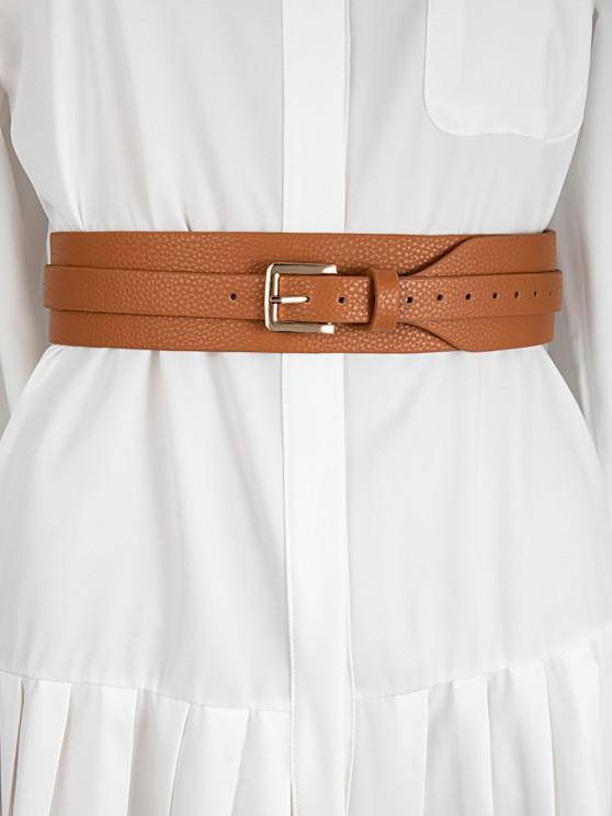 Wide Pin Buckle Belt - صدأ