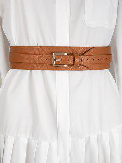 Wide Pin Buckle Belt - Rust