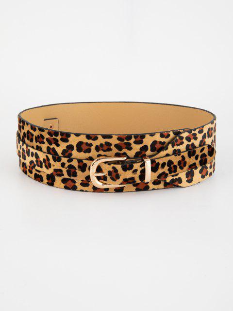 Breiter Gürtel mit Leopardenmuster - Schwarz  Mobile