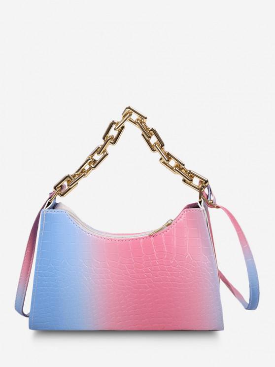 Farbverlauf-Farbketten-Umhängetasche - Rosa