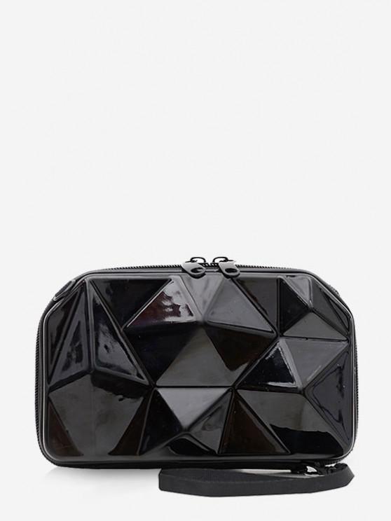 Geometrischer Festplatte Mini Medizinische Tasche - Schwarz