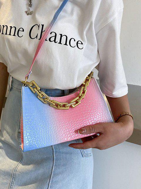 Farbverlauf-Farbketten-Umhängetasche - Rosa  Mobile