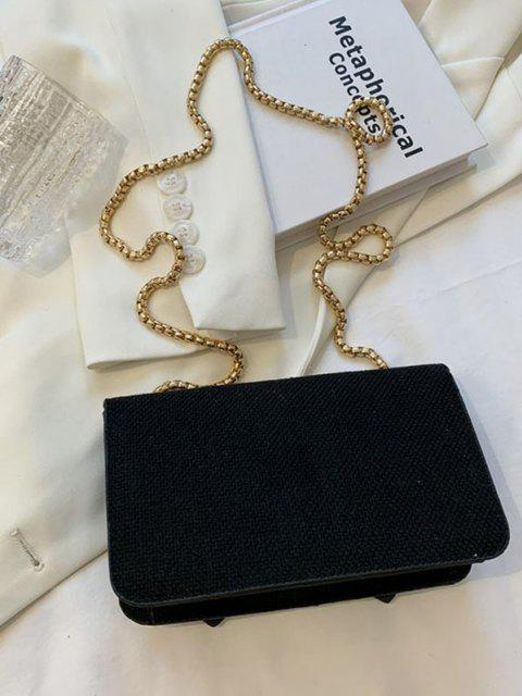Kette Crossbody Messenger Bag - Schwarz  Mobile