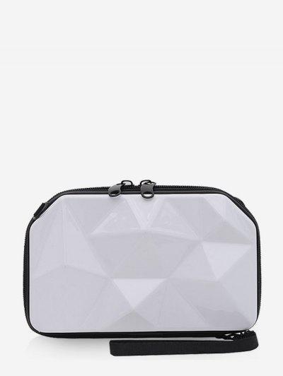 Geometrischer Festplatte Mini Medizinische Tasche - Weiß