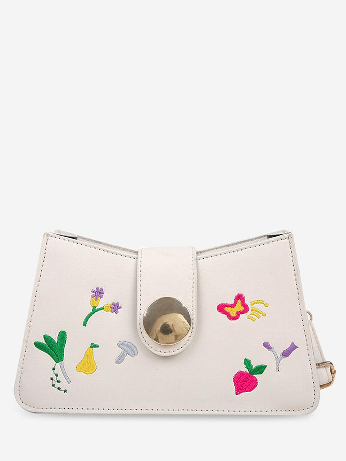 Floral Butterfly Embroidery Crossbody Bag