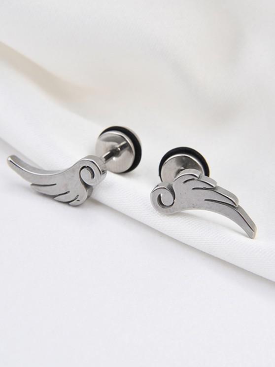 Flügelform Ohrstecker - Silber