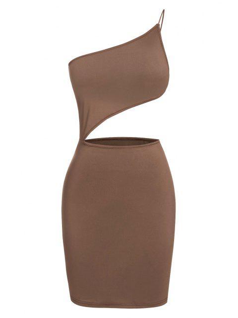 ZAFUL Bodycon Minikleid mit Schulterausschnitt - Tiefkaffee S Mobile